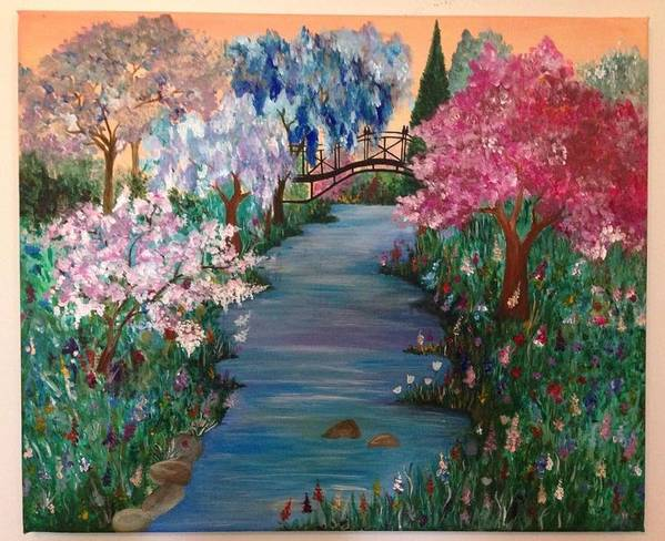 Landscape Art Print featuring the painting Eden by Marija Kovacevic