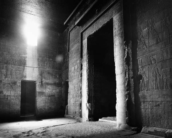 African Print featuring the photograph Egypt: Dendera: Temple by Granger