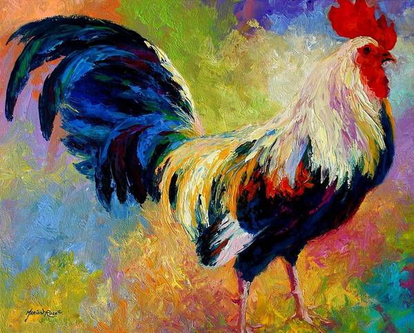 Rooster Art Print featuring the painting Eye Candy by Marion Rose
