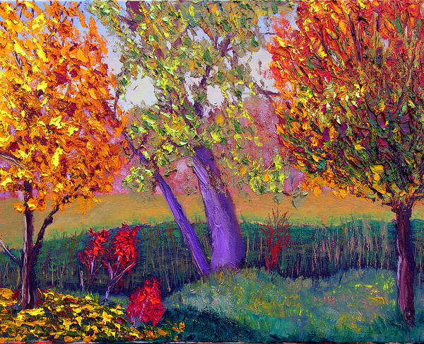 Fall Art Print featuring the painting Fall Colors by Stan Hamilton