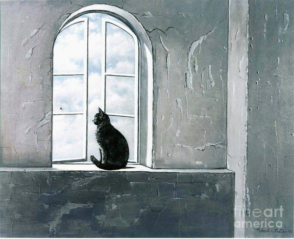 Pet Art Print featuring the painting Fly Watching by Robert Foster