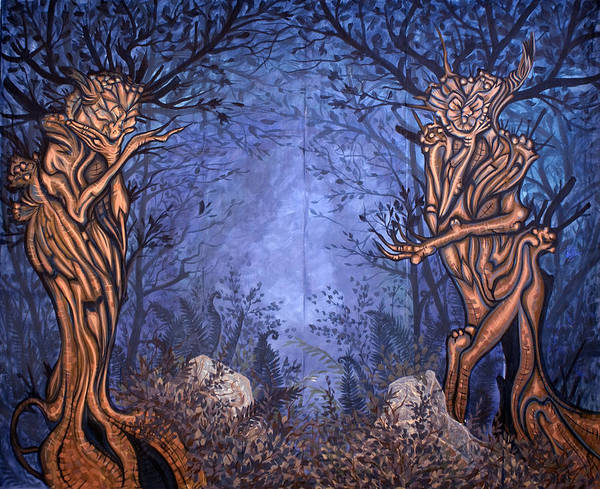 Mystic Art Print featuring the painting Forest by Judy Henninger