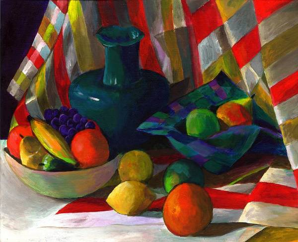 Still Art Print featuring the painting Fruit Still Life by Peter Shor