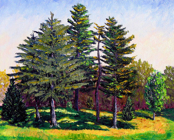 Landscape Art Print featuring the painting Garfield Trees by Stan Hamilton