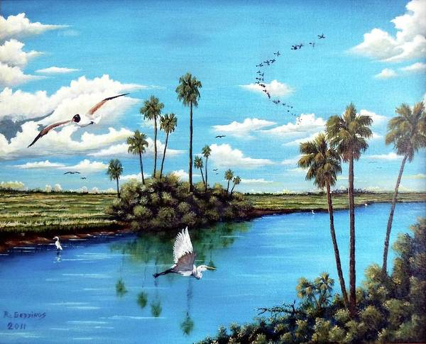 Art Art Print featuring the painting Glades Shark River Slough by Riley Geddings