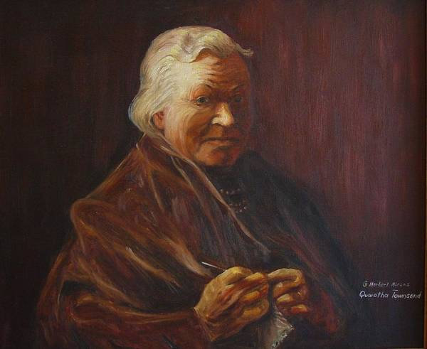 Woman Art Print featuring the painting Herbert Abrams Mother by Quwatha Valentine