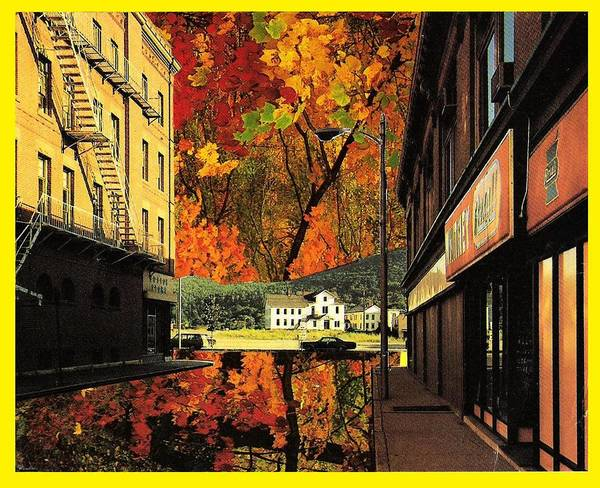 Leaves Art Print featuring the mixed media Holden Street by Gabe Art Inc