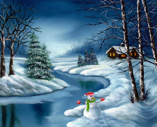 Holidays Art Print featuring the painting Home For The Holidays by Daniel Carvalho