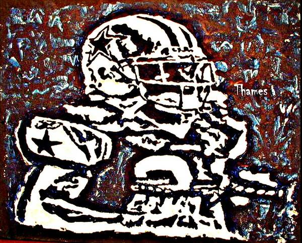 Sports Art Print featuring the painting I Wanna Be A Cowboy by Christopher Thames