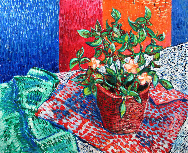 Still Life Art Print featuring the painting Impatiens by Rollin Kocsis