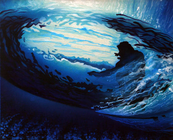 Surf Art Print featuring the painting In The Eye by Ronnie Jackson