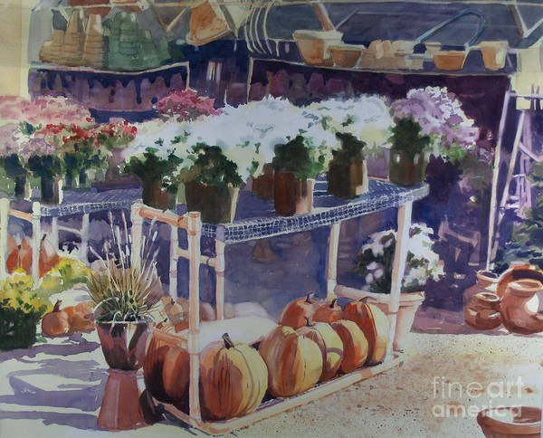Gardenscape Print featuring the painting Ivy Corners by Elizabeth Carr