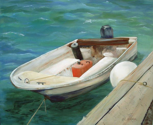 Seascape Art Print featuring the painting Lets Go Fishing by SueEllen Cowan