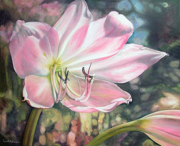 Floral Painting Art Print featuring the painting Lily by Muriel Dolemieux