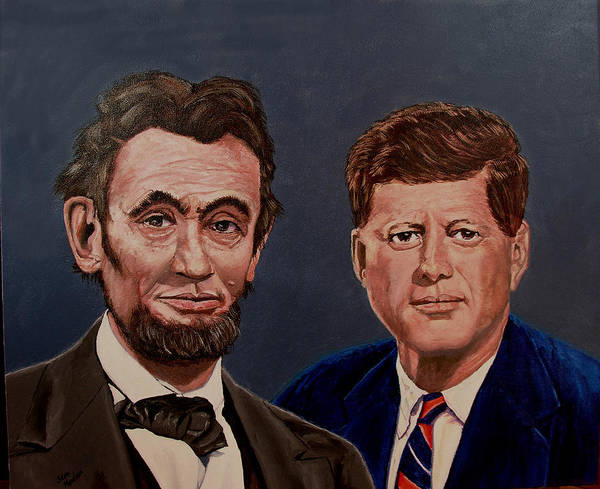 Lincoln Art Print featuring the painting Lincoln And Kennedy by Stan Hamilton