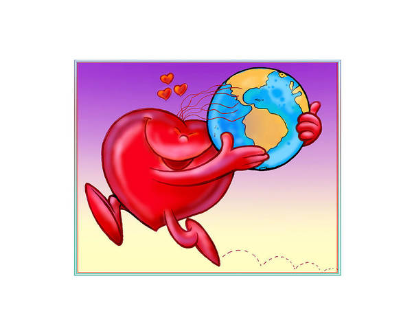 Love Art Print featuring the digital art Love The Planet by Nato Gomes