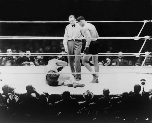 History Art Print featuring the photograph Max Baer 1909-1959, Knocked by Everett
