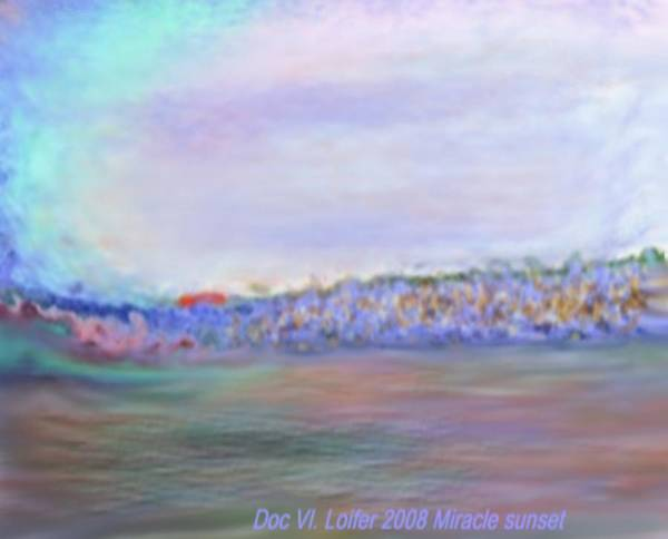 Sunset Art Print featuring the digital art Miracle Sunset by Dr Loifer Vladimir