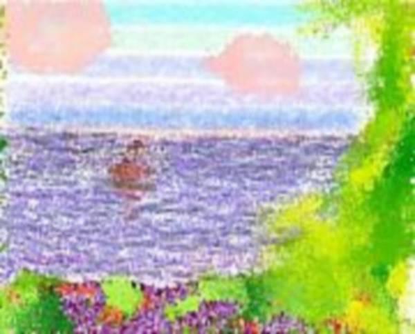 Landscape Art Print featuring the digital art Morning.boat by Dr Loifer Vladimir