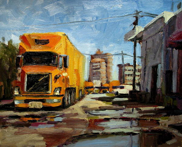 Landscape Paintings Art Print featuring the painting Movers by Brian Simons