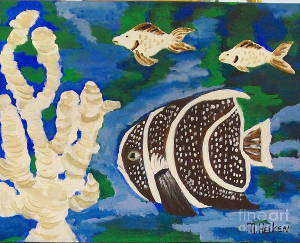 Fish Print featuring the painting Noah's Aquarium by Marsha Heiken