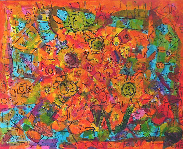 Orange Art Print featuring the painting Orange Orange by Joyce Goldin