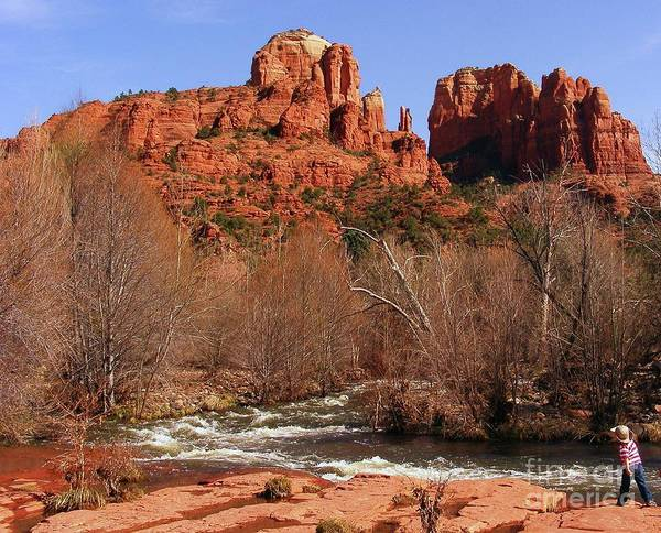 Red Rock Crossing Art Print featuring the photograph Red Rock Crossing Sedona Arizona by Marilyn Smith