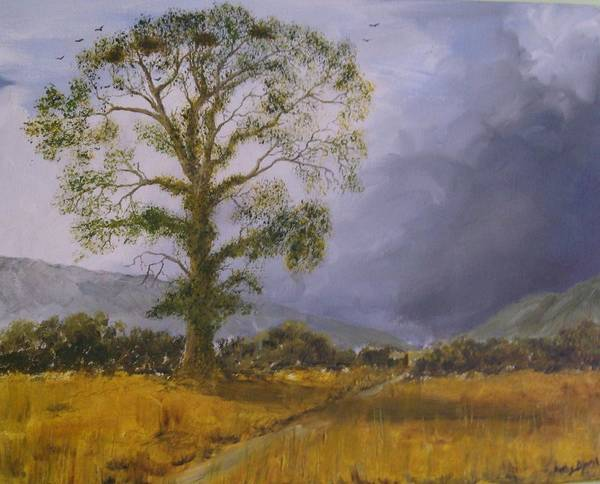 Landscape Art Print featuring the painting Rooks Haven by Andy Davis