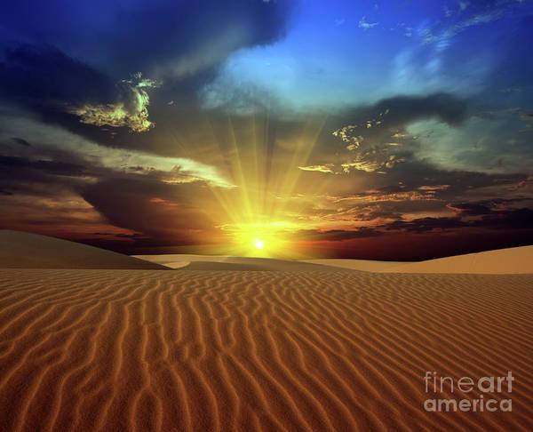 Dunes Art Print featuring the photograph Sandy Desert by MotHaiBaPhoto Prints