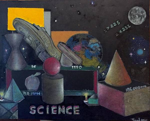 Geometric Art Print featuring the painting Science 101 by Ismael Alicea-Santiago