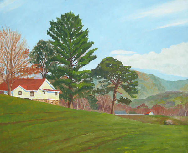 Farm Art Print featuring the painting Shooting Creek North Carolina by D T LaVercombe
