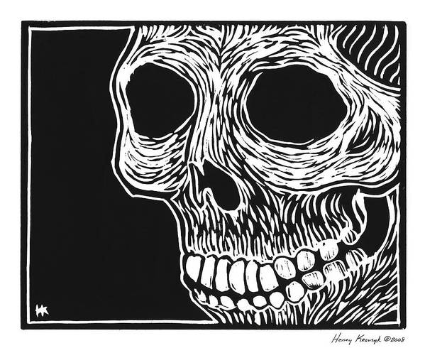 Krauzyk Art Print featuring the print Skull Aware by Henry Krauzyk