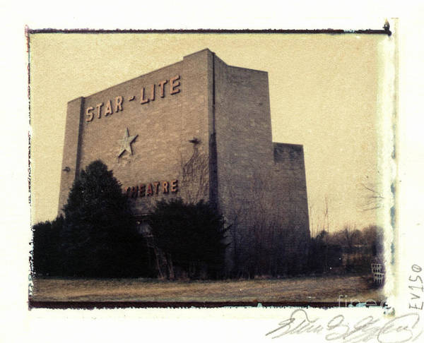 Polaroid Art Print featuring the photograph Star-lite Drive-in by Steven Godfrey