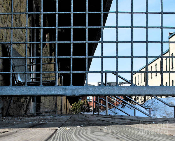 Perspective Art Print featuring the photograph Streetscape 3 Housing by Gary Everson
