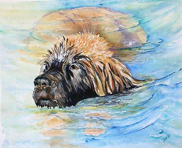 Canine Art Print featuring the painting Summer Daze by Gina Hall
