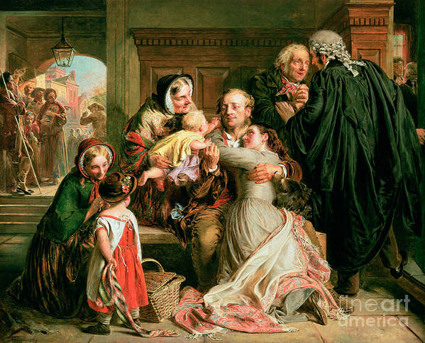 The Print featuring the painting The Acquittal by Abraham Solomon
