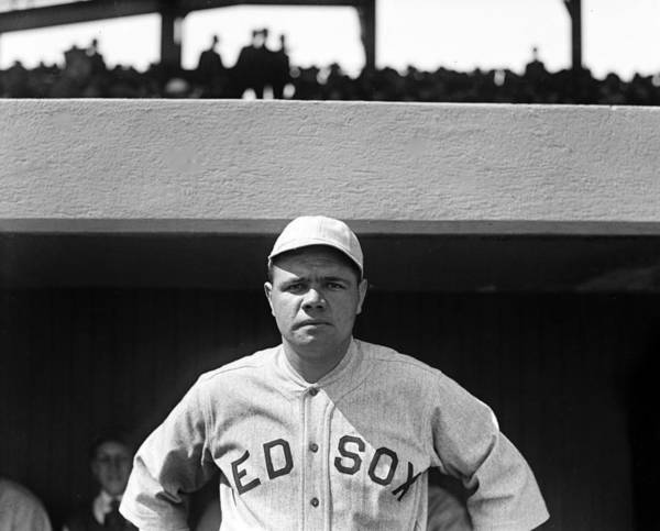 babe Ruth Art Print featuring the photograph The Babe - Red Sox by International Images