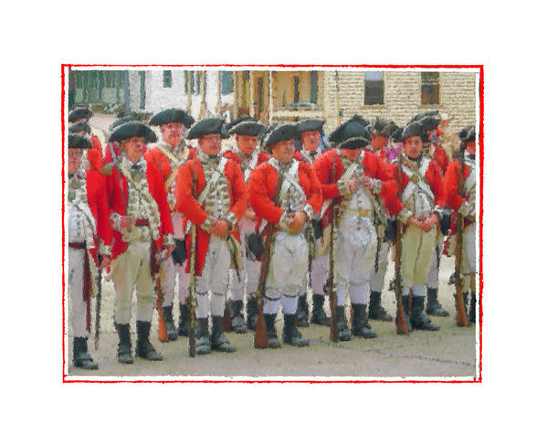 Redcoats Art Print featuring the photograph The Button by Robert Boyette