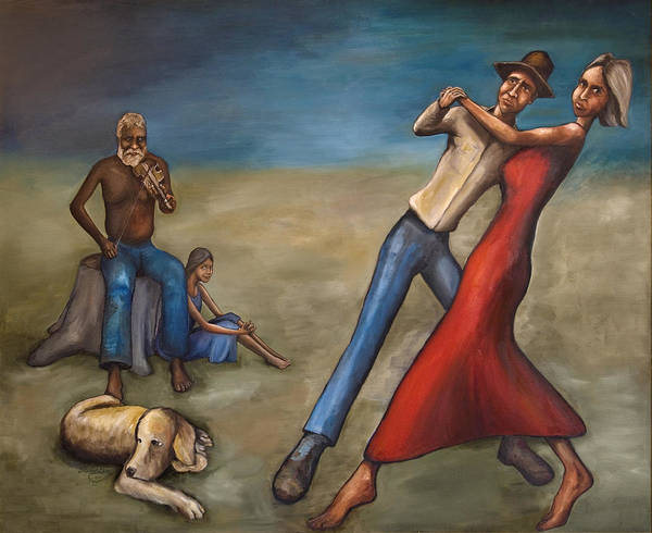 Dancers Art Print featuring the painting The Dancers by Robert Lacy
