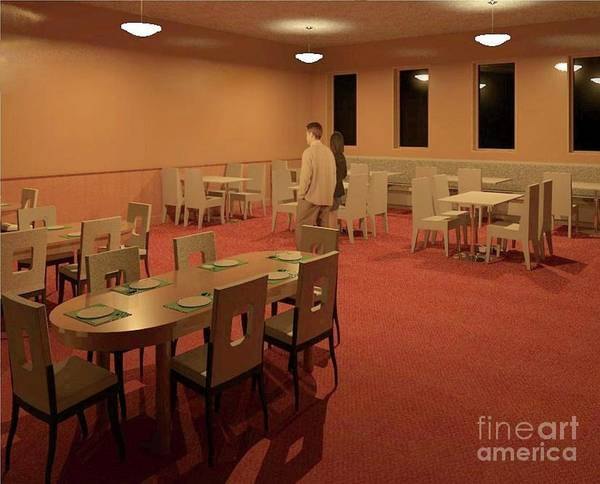 Rendering Art Print featuring the digital art The Dining Room by Ron Bissett