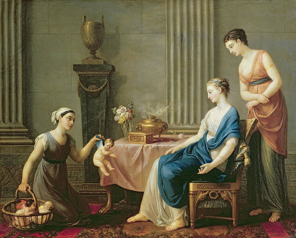 The Art Print featuring the painting The Seller Of Loves by Joseph Marie Vien