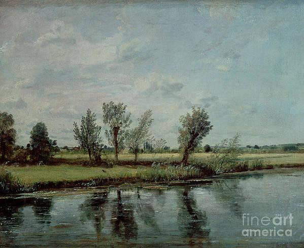 Water Meadows Near Salisbury Art Print featuring the painting Water Meadows Near Salisbury by John Constable