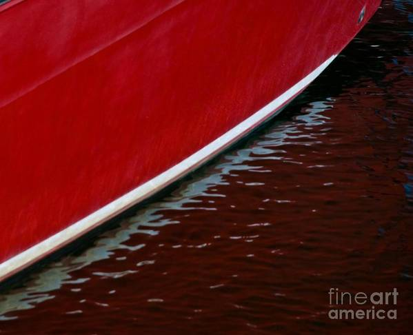 Boats Art Print featuring the photograph Waterline by John Hermann