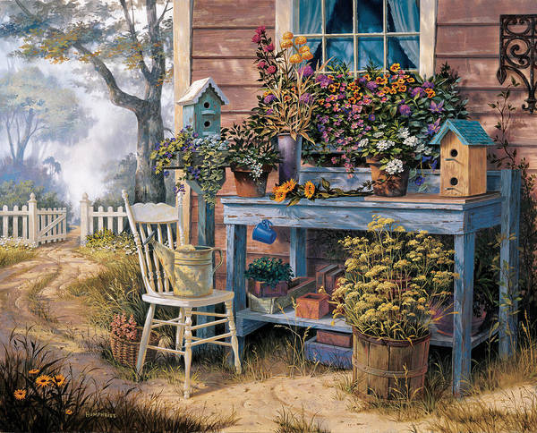 Michael Humphries Art Print featuring the painting Wildflowers by Michael Humphries
