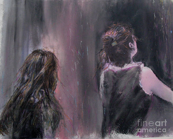 Painting Art Print featuring the painting Woman And Friend by Sigalit Aharoni