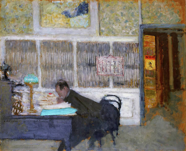At The Revue Blanche Art Print featuring the painting At The Revue Blanche - Digital Remastered Edition by Edouard Vuillard