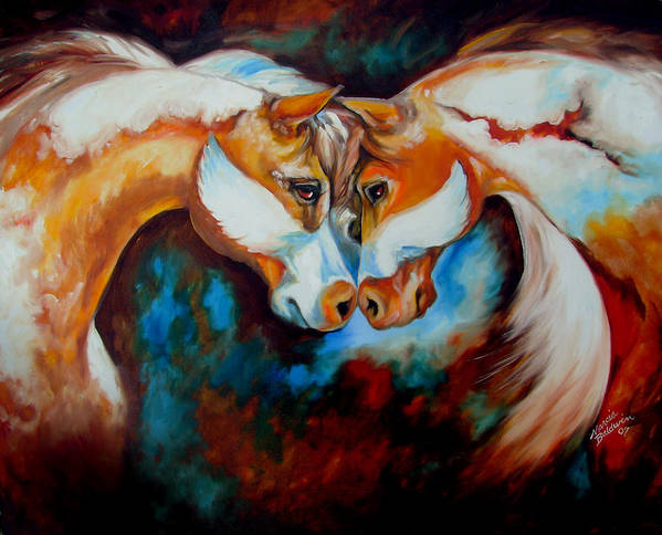 Horse Art Print featuring the painting Spirit Eagle 2007 by Marcia Baldwin
