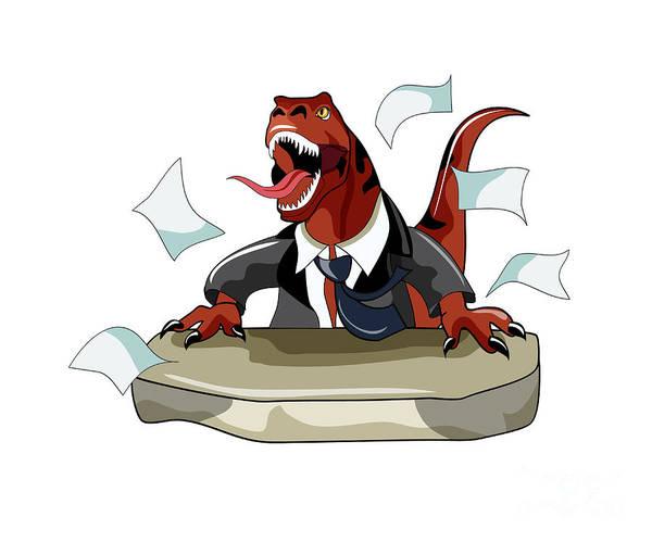 Cutout Print featuring the digital art Illustration Of A Tyrannosaurus Rex by Stocktrek Images