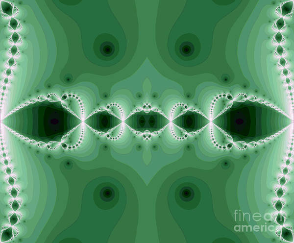 Abstract Art Print featuring the digital art Fantasy Fractal by Odon Czintos