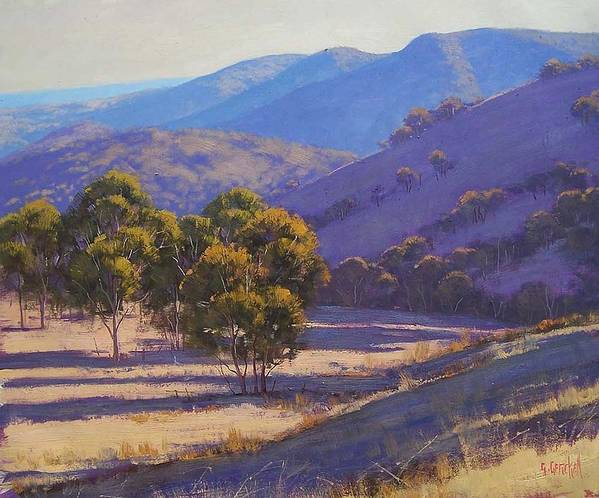 Rural Art Print featuring the painting Afternoon Shadows by Graham Gercken